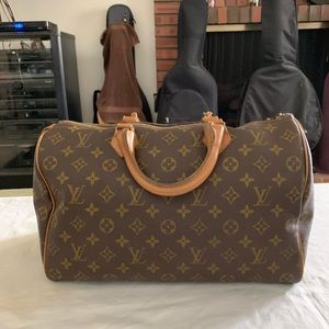 Louis Vuitton Vintage Speedy 35 French Company
